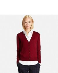 Uniqlo Extra Fine Merino Wool V Neck Cardigan