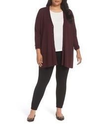 Plus size v neck wool blend cardigan medium 4952718