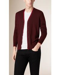 Burberry Silk Lined Merino Wool Cardigan