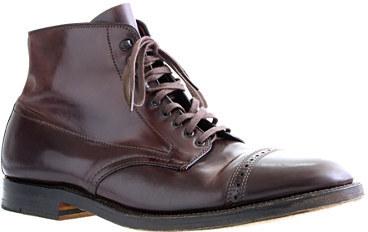 69c85e2f9a9 $752, J.Crew Alden Cap Toe Cordovan Boots