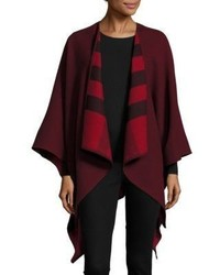 Burberry Reversible Solidcheck Wool Cape