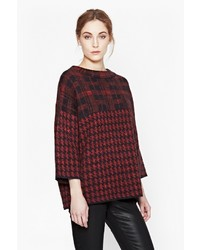 French Connection Dogtooth High Neck Jumper