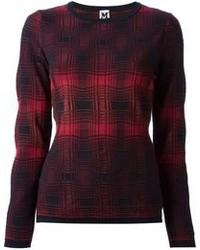 M Missoni Woven Checked Sweater