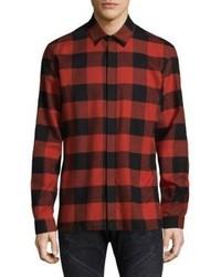 Neil Barrett Checkered Cotton Dress Shirt