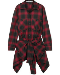 Alexander Wang Checked Wool Flannel Playsuit