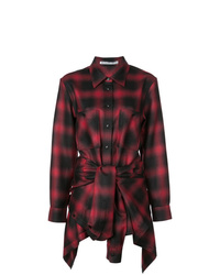 Alexander Wang Tie Front Checked Playsuit