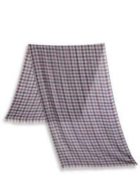 Loro Piana Check Cashmere Silk Scarf