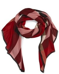 Mega check silk scarf medium 807080