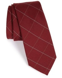 The Tie Bar Windowpane Wool Silk Tie