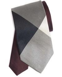 Burgundy Check Tie