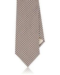 Barneys New York Checked Necktie Burgundy