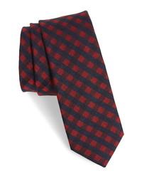 Ted Baker London Check Silk Wool Tie