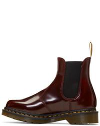 ad501f8b Dr. Martens Red Vegan 2976 Chelsea Boots, $145 | SSENSE | Lookastic.com