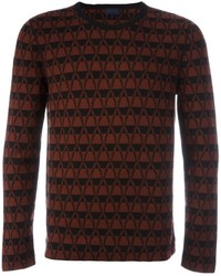 Lanvin Chevron Pattern Jumper
