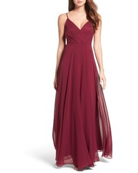 Lulus surplice chiffon gown medium 4730991