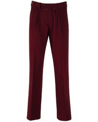 Charles Tyrwhitt Winter Red Single Pleat Classic Fit Weekend Chinos