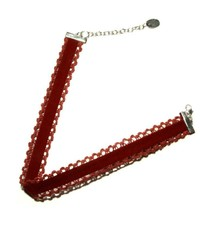 Light Years Collection Burgundy Velvet Choker