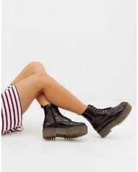 Bershka Chunky Lace Up Boot