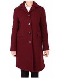 Aspesi Burgundy Wool Coat