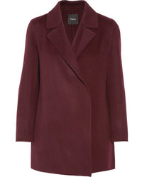 Theory Clairene Wool And Cashmere Blend Coat Merlot