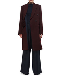 Victoria Beckham Double Breasted Wool Coat