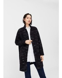 Mango Flecked Wool Blend Coat