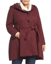 Plus size drama hooded coat medium 1044279
