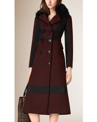 Burberry Prorsum Cashmere Blend Officer Coat