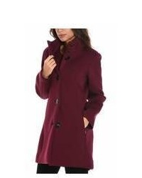 Rrd Burgundypurple Viscose Coat
