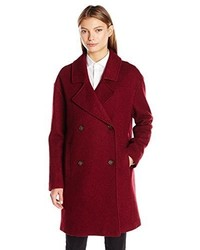 Tommy Hilfiger Wool Boucle Oversized Double Breasted Coat