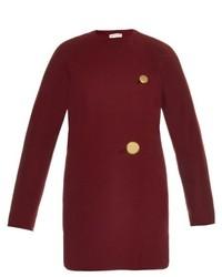 Balenciaga Wool Jersey Cocoon Shaped Coat