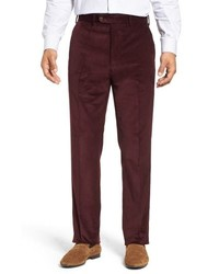 Burgundy Corduroy Dress Pants