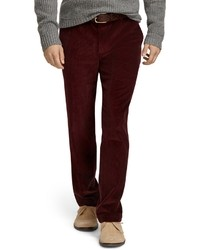 Burgundy Corduroy Jeans for Men | Men's Fashion