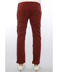 Bellfield the linfield over dyed skinny jeans in burgundy medium 162325