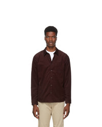 A.P.C. Burgundy Serge Shirt