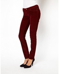 Blank Nyc Corduroy Skinny Jeans In Berry