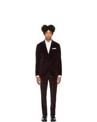 Neil Barrett Burgundy Corduroy Suit