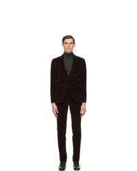 Ermenegildo Zegna Burgundy Corduroy Suit