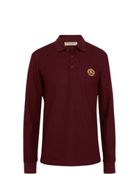 Burberry Long Sleeve Archive Logo Cotton Piqu Polo Shirt