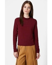 Burgundy crew neck sweater original 1327767