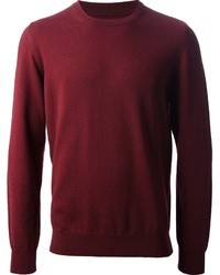 Burgundy Crew-neck Sweater