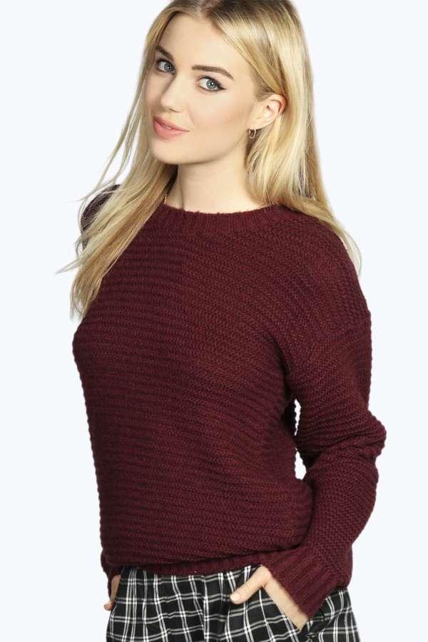 cc7a3d60c0 Boohoo Britney Garta Soft Knit Jumper, $35 | BooHoo | Lookastic.com