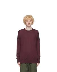 Loewe Burgundy And Black Anagram Embroidered Sweater