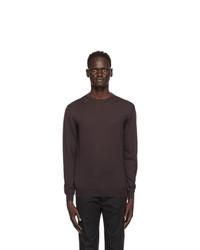 Ermenegildo Zegna Burgundy Cashmere Crewneck Sweater