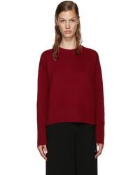 Burgundy open back sweater medium 695769