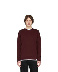 Norse Projects Burgundy Vagn Classic Crewneck Sweater
