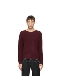 Random Identities Burgundy Wool Chain Crewneck