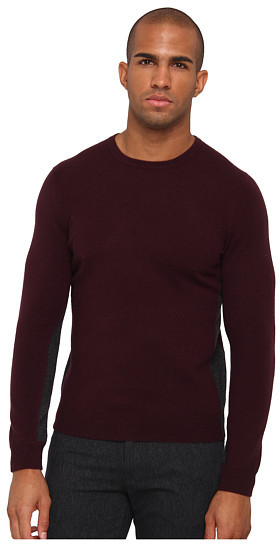 Vince Cashmere Color Block Crew Neck Sweater | Where to buy & how ...