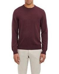 Piattelli Cashmere Crewneck Sweater Red Size Large