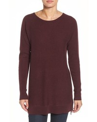 Halogen Highlow Wool Cashmere Tunic Sweater